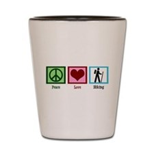 Peace Love Hiking Shot Glass