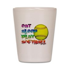 Eat sleep soft 2 Shot Glass