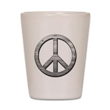 Metal rivet peace Shot Glass