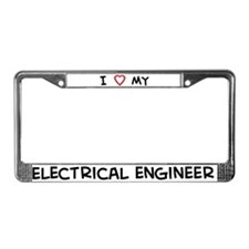 I Love Electrical engineer License Plate Frame