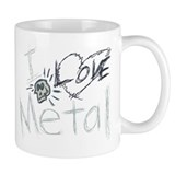 I Love Metal*** Small Mug