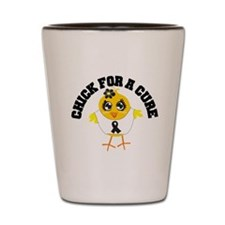Skin Cancer Chick For A Cure Shot Glass