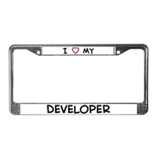 I Love Developer License Plate Frame