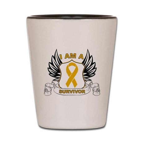 Survivor Appendix Cancer Shot Glass
