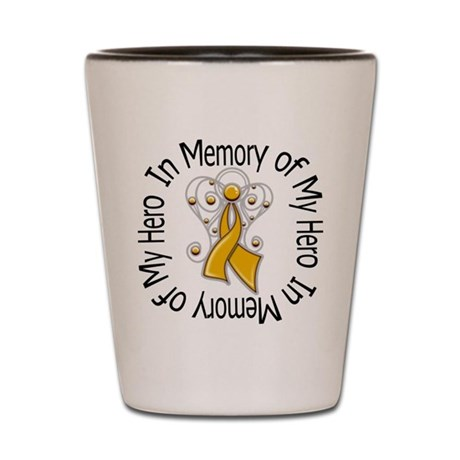 In Memory Appendix Cancer Shot Glass