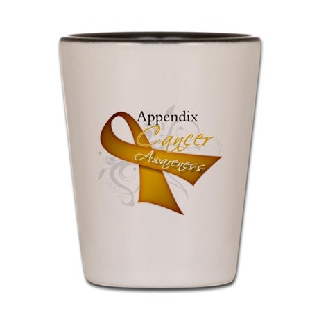Awareness Appendix Cancer Shot Glass