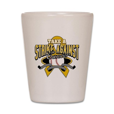 Take Strike Appendix Cancer Shot Glass