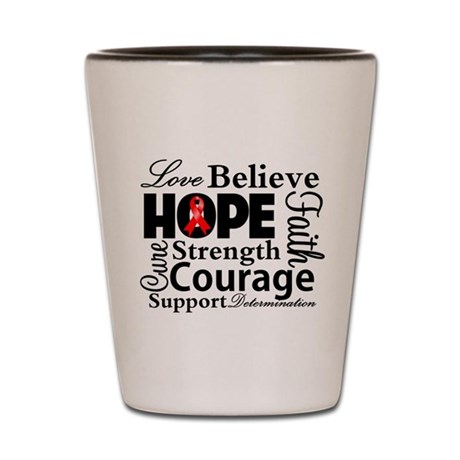 Blood Cancer Hope Collage Shot Glass