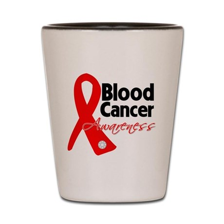 Blood Cancer Ribbon Shot Glass