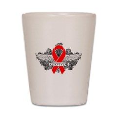 Blood Cancer Survivor Shot Glass