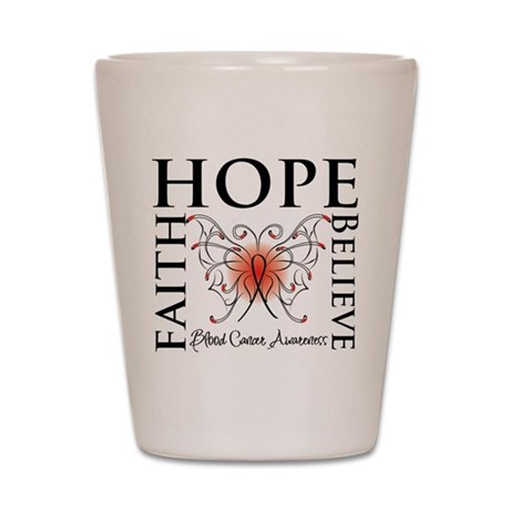 Blood Cancer Faith Hope Shot Glass