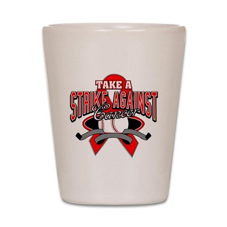 Take a Strike Blood Cancer Shot Glass