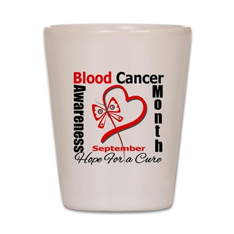 Lymphoma Awareness Month v4 Shot Glass