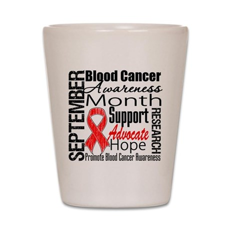 Blood Cancer Month v2 Shot Glass