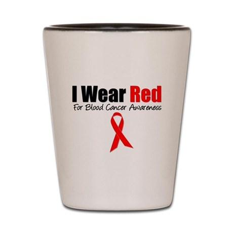 IWearRed Blood Cancer Shot Glass