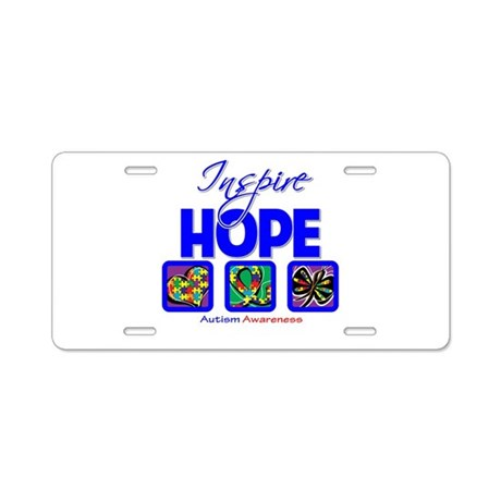Autism Inspire Hope Aluminum License Plate