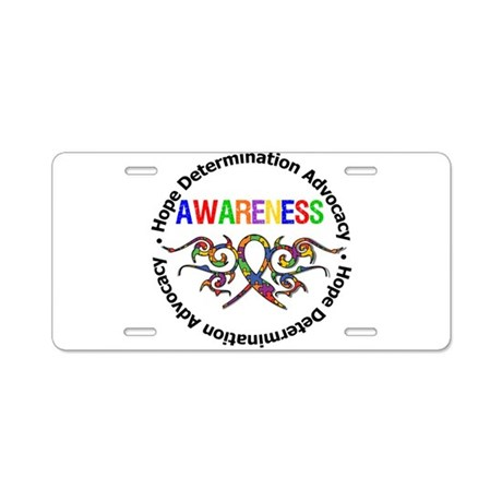 Autism Hope Awareness Aluminum License Plate