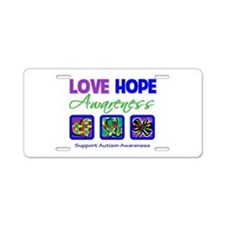 Autism Love Hope Aluminum License Plate