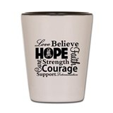 Brain Cancer Hope Collage Shot Glass