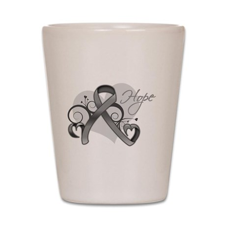 Hope Ribbon Brain Cancer Shot Glass