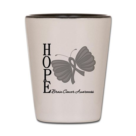 Hope Brain Cancer Shot Glass