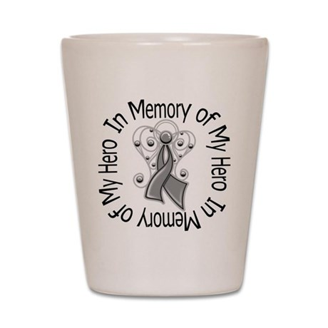 Brain Cancer In Memory Shot Glass