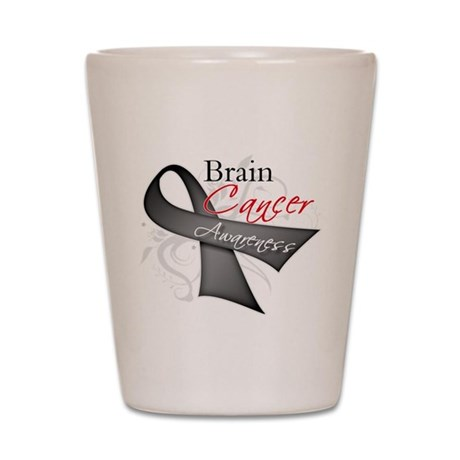 Brain Cancer Awareness Shot Glass