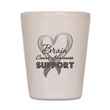 Brain Cancer Support Shot Glass