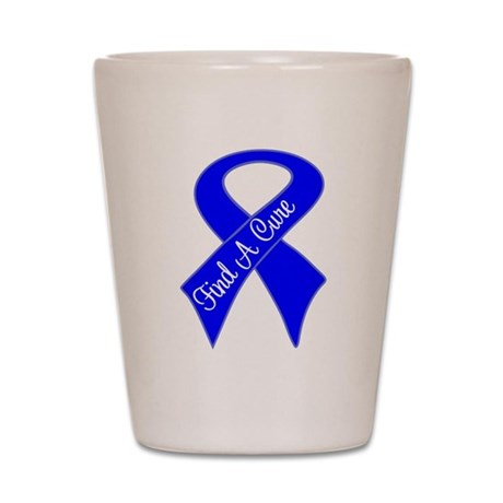 Find a Cure Colon Cancer Shot Glass