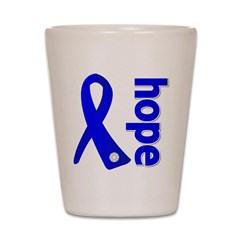 Hope Ribbon Colon Cancer Shot Glass