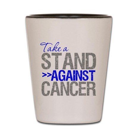 Take a Stand Colon Cancer Shot Glass