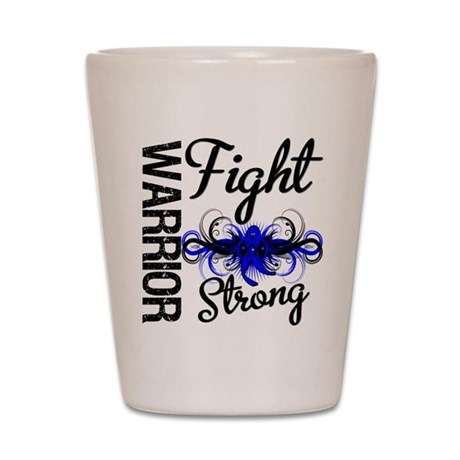 Warrior Colon Cancer Shot Glass