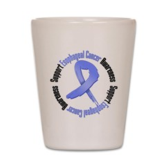 Support Esophageal Cancer Shot Glass
