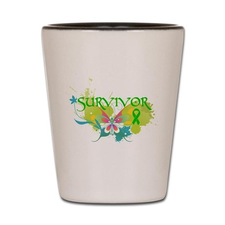 Butterfly Bile Duct Cancer Shot Glass