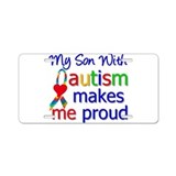 Autism Proud Ribbon Aluminum License Plate