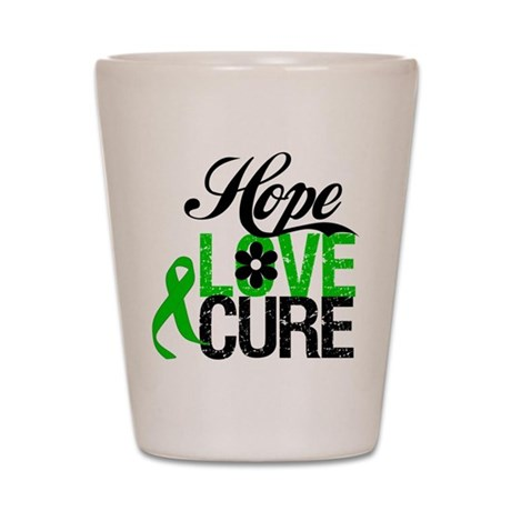 Hope Love Cure Bile Duct Shot Glass