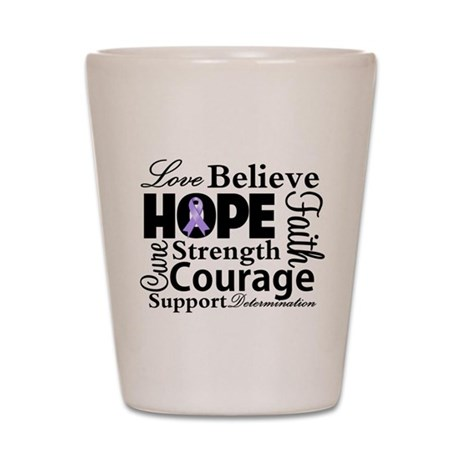 General Cancer Hope Shot Glass