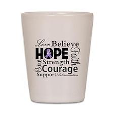 General Cancer Hope Shot Glass