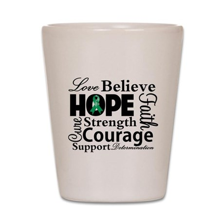 Liver Cancer Hope Collage Shot Glass