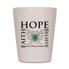 Faith Hope Liver Cancer Shot Glass