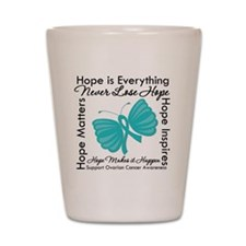 Ovarian Cancer Hope Shot Glass