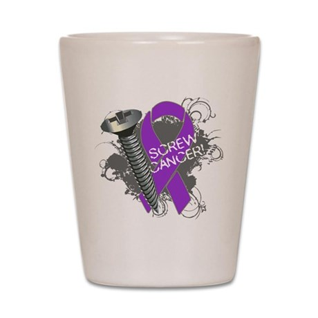 Screw Pancreatic Cancer Shot Glass
