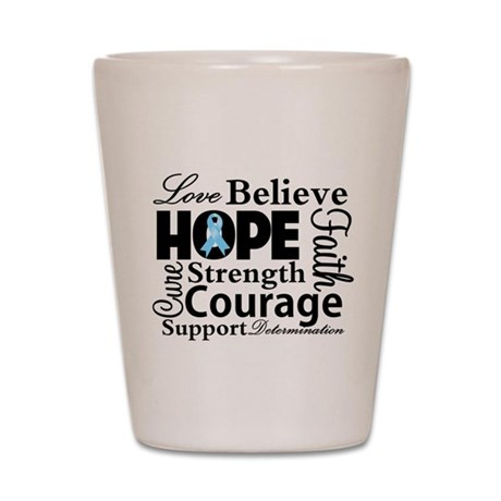 Prostate Cancer Hope Collage Shot Glass