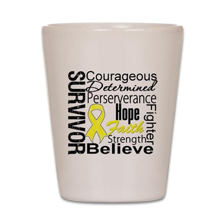 Sarcoma Survivor Collage Shot Glass