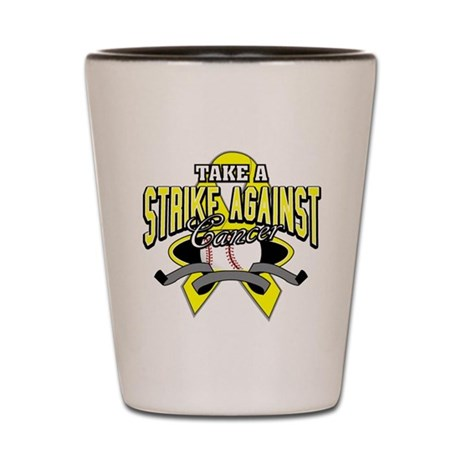 Take a Strike Sarcoma Cancer Shot Glass
