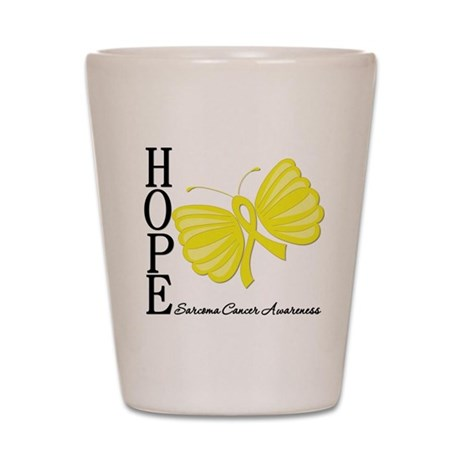 Hope Butterfly Sarcoma Shot Glass