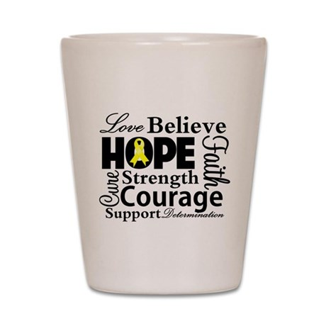 Sarcoma Hope Collage Shot Glass