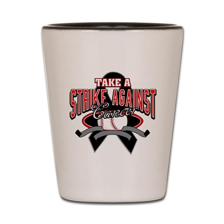 Take a Strike Skin Cancer Shot Glass