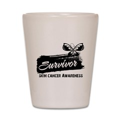 Skin Cancer Survivor Shot Glass