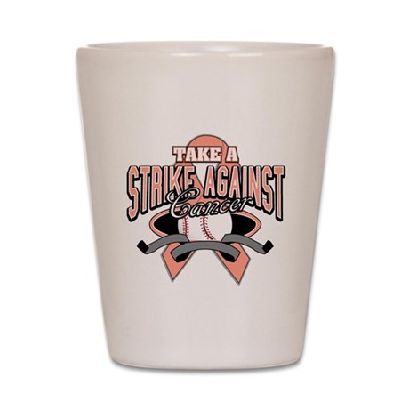 Take a Strike Uterine Cancer Shot Glass